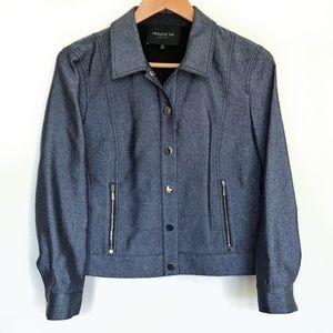 SOLD - Lafayette 148 New York Blue Metallic Jacket